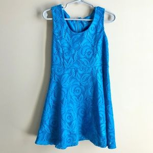 Gorgeous Lace Overlay Teal Dress